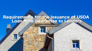 Requirements for the Issuance of USDA Loan Note Guarantee to Lenders