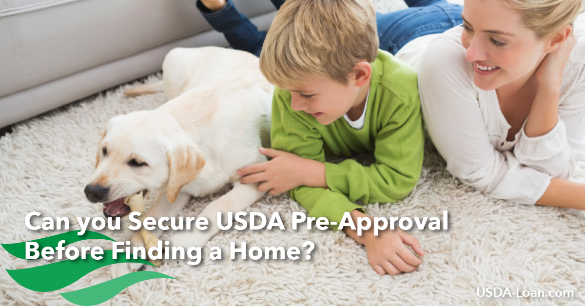 Can you Secure USDA Pre-Approval Before Finding a Home?